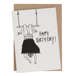 GREETING CARD HAPPY TRAPEZE SET