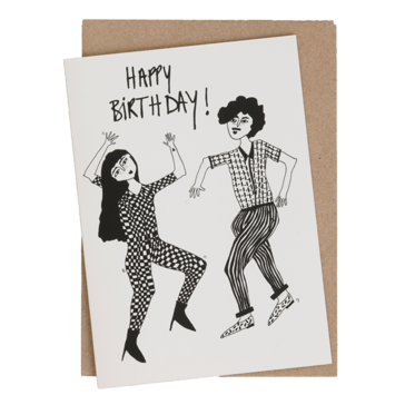 GREETING CARD HAPPY BIRTHDAY DANCING COUPLE