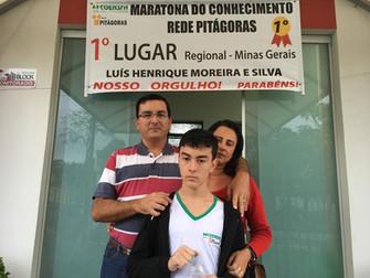 ALUNO COENSFA FICA EM PRIMEIRO LUGAR NA MARATONA DO CONHECIMENTO DA REDE PITÁGORAS