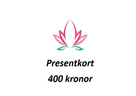 Presentkort värde 400 SEK