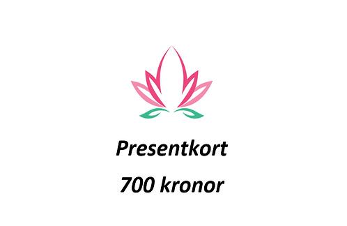 Presentkort värde 700 SEK