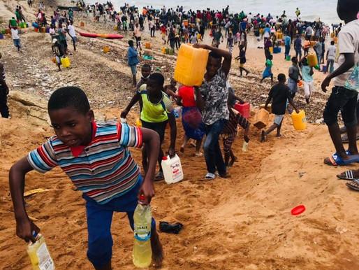 Roubo de combustível provoca derrame na baía de Pemba