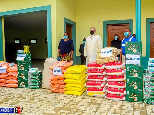 KARMOL oferta produtos alimentares e dehigiene aos centros de caridade em Nacala