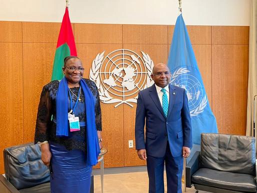 Ministra Verónica Macamo recebida em audiência pelo SG das ONU