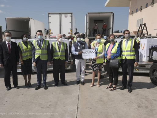 Mozambique receives first COVAX COVID-19 vaccines