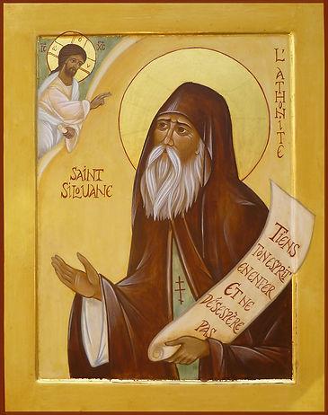 Atelier de la Théotokos | icône de Saint Silouane du Mont Athos. | Autant par sa vie que par ses écrits aux mots simples, Saint Silouane est un modèle de la vie chrétienne