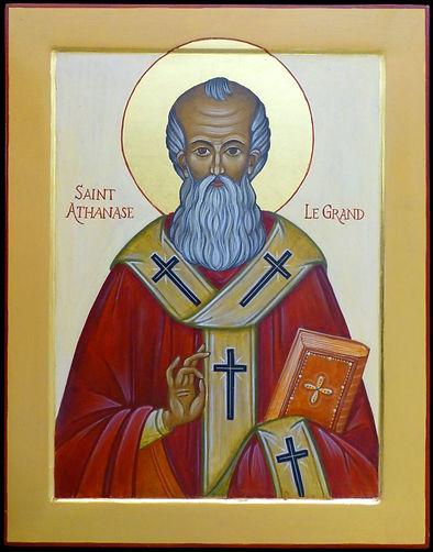 icône de Saint Athanase le Grand - atelier de la Theotokos, icônes et art sacré - Lausanne - Suisse