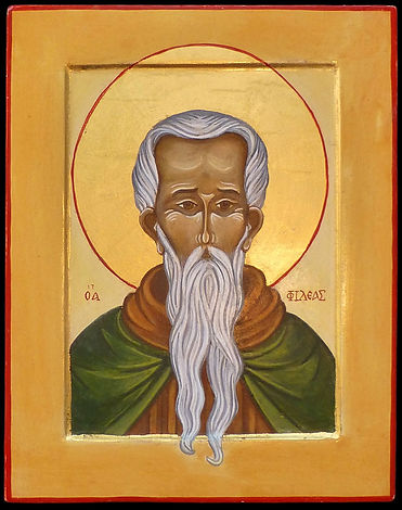 atelier de la theotokos  | Icône de Saint Phileas |  Saint Phileas, évêque et martyre, dont le nom vient du grec philein : « aimer » vécu à Thmuis en Egypte au IVe siècle.