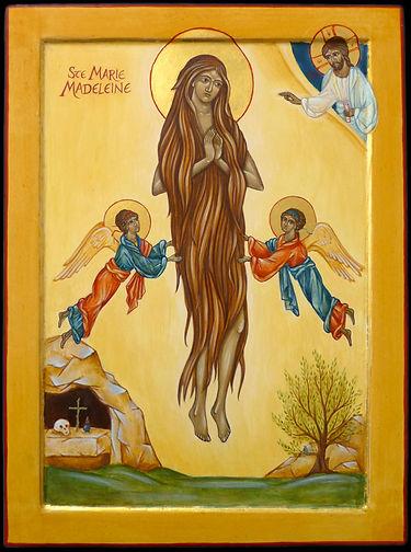 Marie Madeline aspirant à la solitude décide de vivre dans une grotte du massif de la sainte Baume. Sept fois par jour, elle est enlevée par les anges qui la nourrissent, tandis qu'elle entends les choeurs céleste s qui louent le seigneur