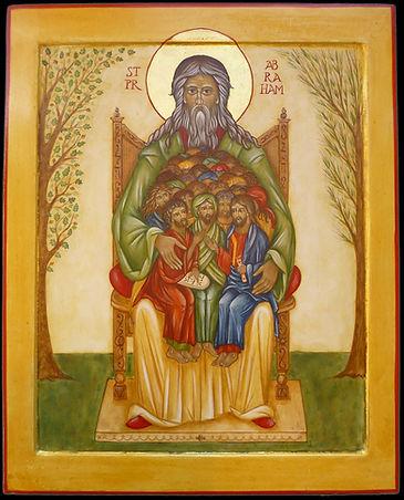 Atelier de la Théotokos | icône du St prophète Abraham, père des croyants. Modèle de foi, Abraham quitte les siens et son pays pour répondre à l'appel de Dieu.