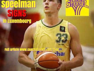 Jett Speelman Signs in Top League Luxembourg