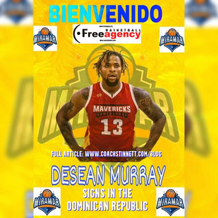 Desean Murray Signs with Miramar in the Dominican Republic
