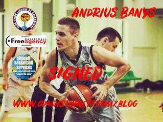 Andrius Banys Signs in Spain