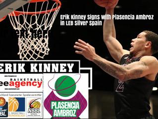 Free Agency Client Erik Kinney Signs in Spain