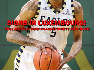 BJ Gladden Signs again in Luxembourg