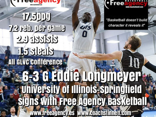 Longmeyer Signs with Free Agency Basketball!