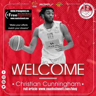 Christian Cunningham Signs with Hapoel Beer Sheva in Top League Israel