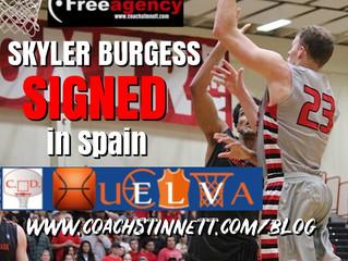 Burgess Signs in Spain