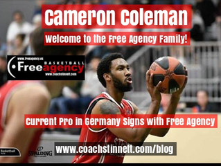 Cameron Coleman Signs with Free Agency Basketball