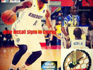 Mike McCall Signs in Cyprus
