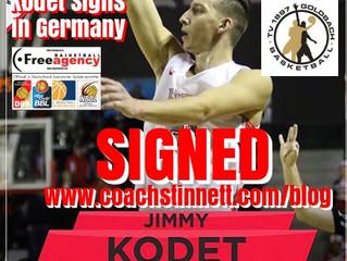 Jimmy Kodet Signs in Germany