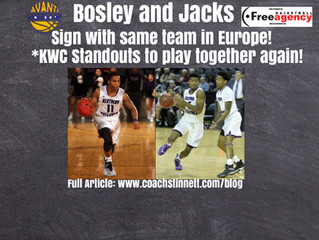 Free Agency Clients Ken-Jah Bosley and Jordan Jacks Reunited in Luxembourg