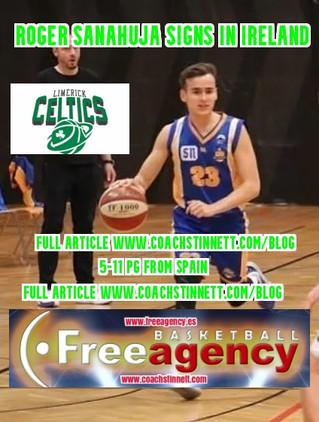Roger Sanahuja Signs with Limerick Celtics