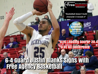 GLVC Leading Scorer Justin Blanks Signs with Free Agency Basketball
