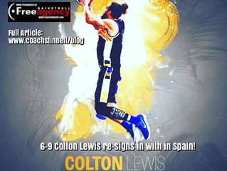 Colton Lewis Signs in Spain