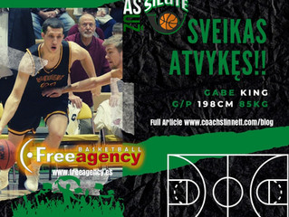 Free Agency Client Gabe King Signs in Lithuania