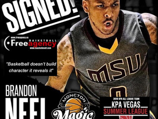 Free Agency Client and KPA Vegas Summer League Standout Brandon Neel Signs with NBL Champs Moncton
