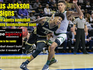 6-1 PG Julius Jackson (*Rookie Emporia State University) Signs with Free Agency Basketball