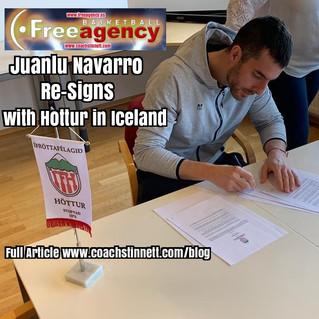 Navarro Re-Signs with Hottur