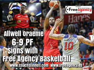 6-9 PF Allwell Oraeme Signs with Free Agency Basketball