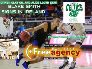 Blake Smith Signs with the Limerick Celtics in Ireland