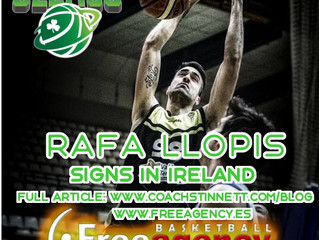 Rafa Llopis Signs in Ireland