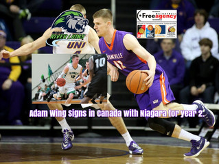 Free Agency Client Adam Wing Signs for 2nd Pro Season in NBL Canada