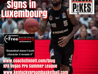 Jeril Taylor Signs in Luxembourg