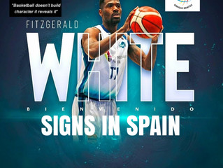 Free Agency Client Fitzgerald White Signs for his 5th Pro Season in Spain