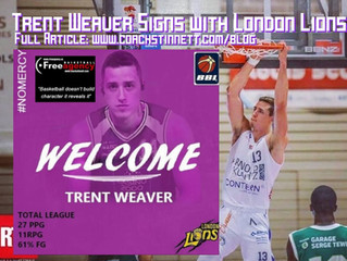 Free Agency Client Trent Weaver Signs with United Kingdom Power London Lions
