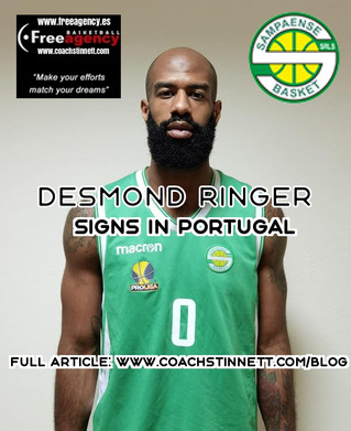Desmond Ringer Signs in Portugal