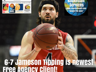 6-7 Jameson Tipping Signs With Free Agency
