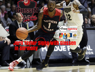 Free Agency Client Jeril Taylor Signs with Giessen in Germany