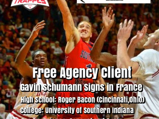 Free Agency Client Gavin Schumann Signs in France
