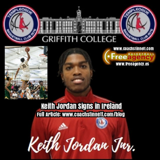 Keith Jordan Jr. Signs with Templeogue in Ireland Super League