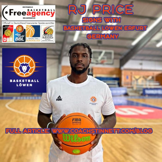 R.J. Price Signs with Basketball Lowen Erfurt in Germany