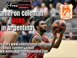 Cameron Coleman Signs in Argentina