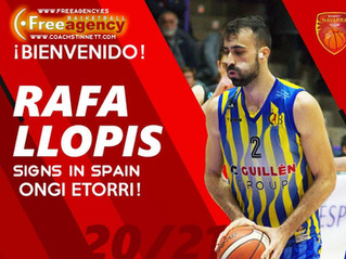 Rafa Llopis Signs in Spain