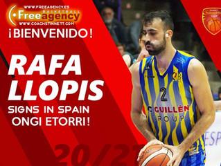 Rafa Llopis Signs in Spain