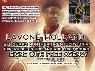 Lavone Holland Signs with Free Agency Basketball